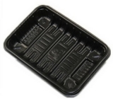 Custom design plastic disposable food packaging tray FD-031